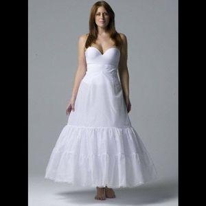 David's bridal plus size A-line  2-tier slip